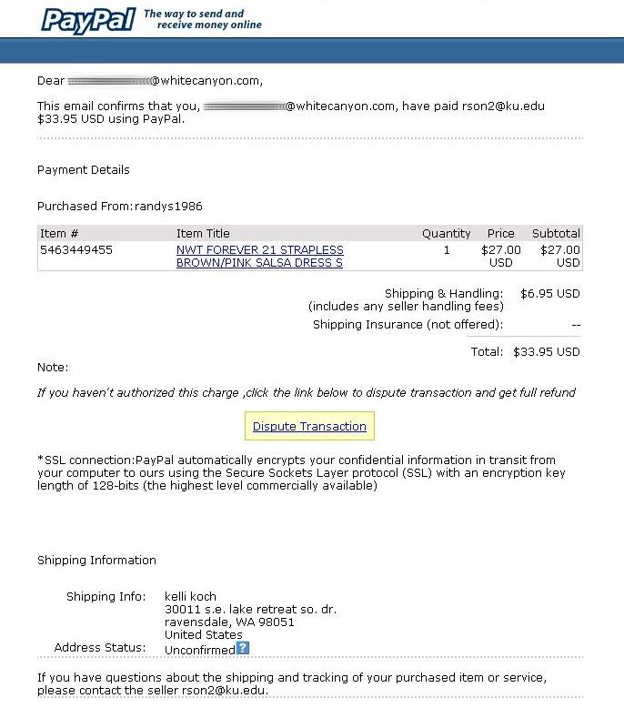 Phishing: PayPal Phishing Scam Exposed